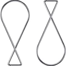 Outus 100 Pack Ceiling Hook Clips T-bar Squeeze Hangers Clips Drop Ceiling Clips for Office, Classroom, Home and Wedding Decoration, Hanging Sign from Suspended Tile/Grid/Drop Ceilings
