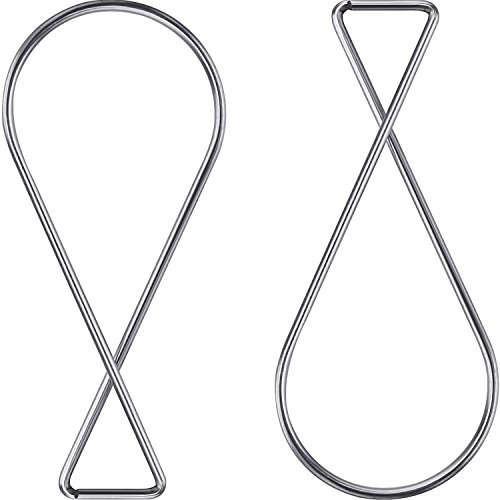 Outus 100 Pack Ceiling Hook Clips T-bar Squeeze Hangers Clips Drop Ceiling Clips for Office, Classroom, Home and Wedding Decoration, Hanging Sign from Suspended Tile/ Grid/ Drop Ceilings (Light Ceiling From Hanging)
