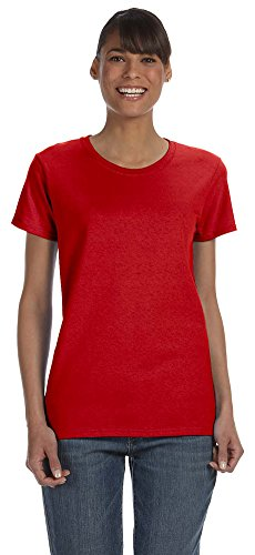 Gildan Heavy Cotton Ladies 5.3 oz. Missy Fit T-Shirt, Large, RED ()