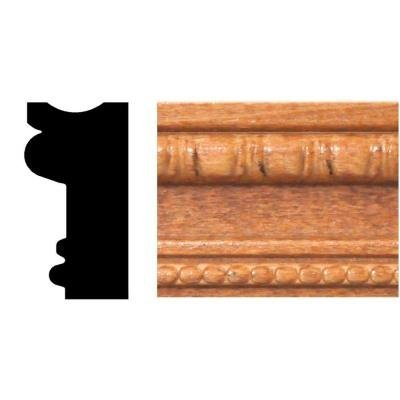 3/4 in. x 1-1/2 in. x 8 ft. Hardwood Stained Cherry Embossed Detail (Hardwood Moulding)
