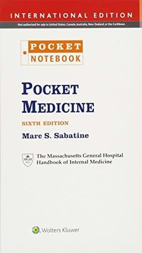 Pocket Medicine: The Massachusetts General Hospital Handbook of Internal Medicine;Pocket Notebook (Pocket Notebook Series)