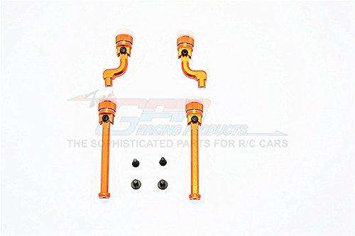 HPI Sport 3 Flux Upgrade Parts Aluminum Front+Rear Magnet Body Mount For BMW M3 E30 - 1 Set Orange GPM