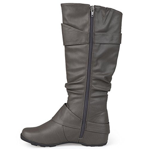 Buckle and Womens Slouch Sizes Brinley Patent Knee Grey In Wide Regular Calf High Tz2cN18oSV Boot Z1Eqfqw