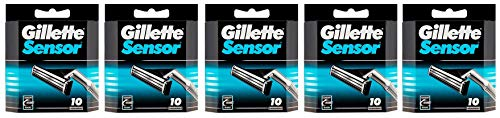Gillette Sensor - 50 Blades (5 x 10 or 10 x 5 Packs)