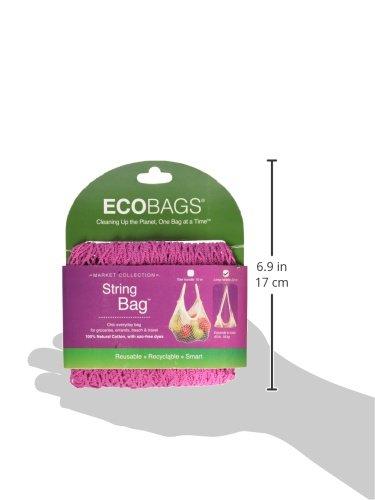 ECOBAGS Long Handle String Bag, Fuschia
