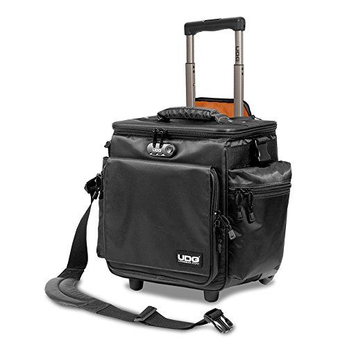 UDG Sling Bag Trolley Deluxe - Black w/ Orange Inside (Best Dj Record Bag)