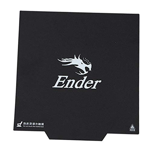 guoxuEE Ender-3 Papier de Chauffage pour Bande d'impression pour Autocollant d'impression pour imprimante 3D Square Build Noir