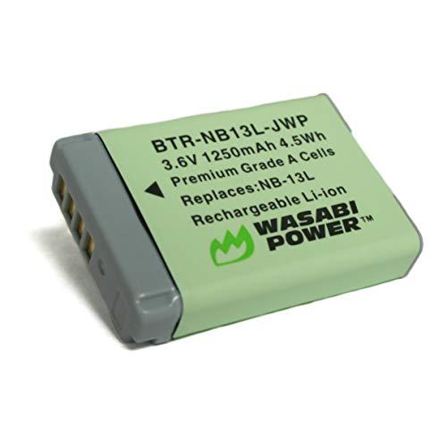Wasabi Power NB-13L Battery for Canon PowerShot G1 X Mark III, G5 X, G7 X, G7 X Mark II, G9 X, G9 X Mark II, SX620 HS, SX720 HS, SX730 HS, SX740 HS