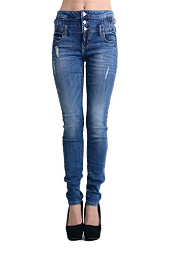8816dab595 Eunina Womens Waisted Stretch Jeans product image