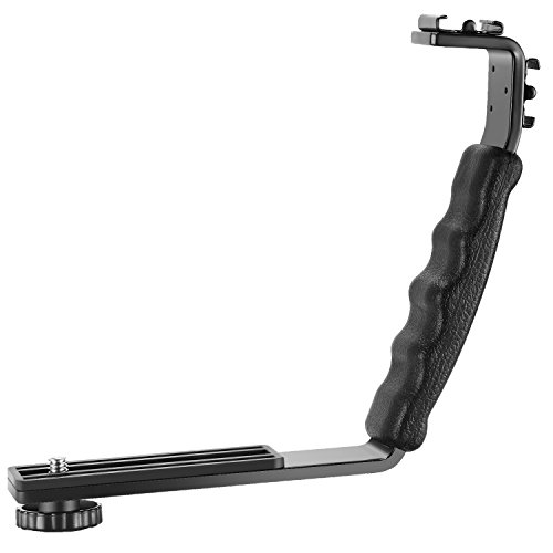 Neewer L-Shape Bracket Holder for Flash Light Camera Mini DV Camcorder with Hot Shoe