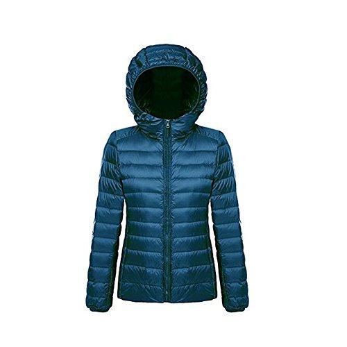Outwear capucha Ake azul con abajo oc chaquetas de Puffer Packable invierno Woman Wq1FRYg1