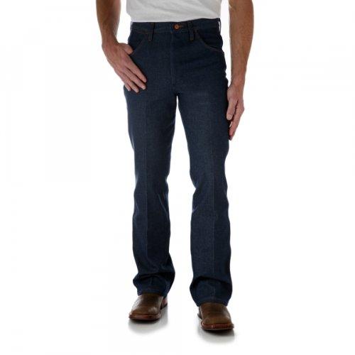 Wrangler Men's Western Boot Cut Slim Jean,Navy,31x33