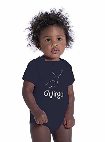 Panoware Unisex New Baby Gift Zodiac Astrology Signs Onesie | Virgo, Navy, 12-18 Months