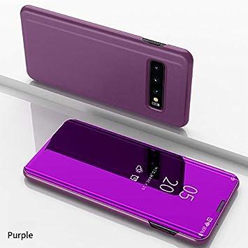 COVO Funda Samsung Galaxy S10 Plus,Fundas de espejo elegante Carcasa de Función inteligente para dormir/despertar,Vista inteligente Cover Carcasa ...