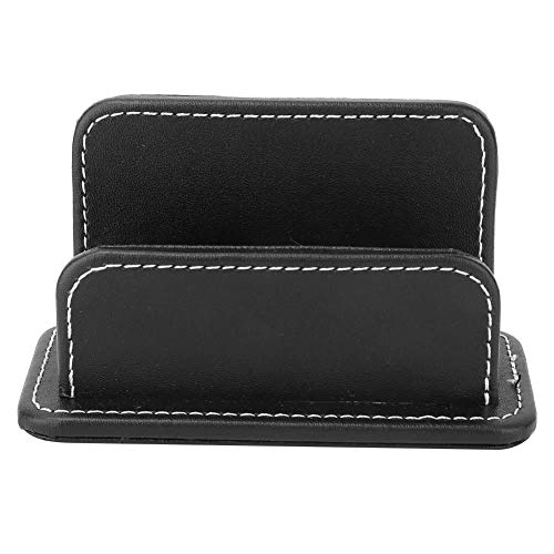 Card Holder Organizer Cards Case PU Leather Business Card Stand Desktop Stationery Supplies (Tier Card Credit List)