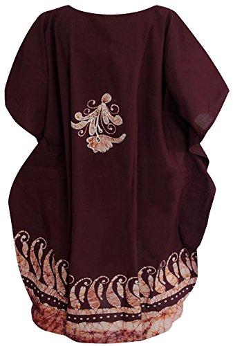 batik couvrir caftan kimono plage robe casquette manches dames coton bikini col rond lâche wrap chemise maillot de vacances poncho châle station piscine mini-Ample boho maxi