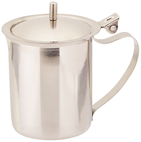 SET OF 6, 10-Oz. (Ounce) Creamer, Serving Creamer, Liquid-Sugar Coffee Milk Creamer Pitcher Server, Finger Handle, 18/8 Gauge Stainless Steel ()