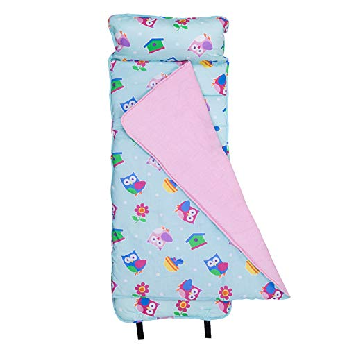 Wildkin Original Nap Mat, Features Built-In Blanket and Pillow, Perfect for Daycare and Preschool or Napping On-the-Go, Olive Kids Design – Birdie for $<!--$42.99-->