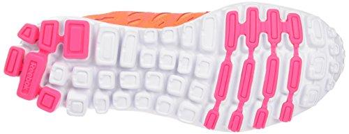Reebok Mädchen Realflex Train 4.0 Fitnessschuhe, Mehrfarbig (Electric Peach/Solar Pink/White), 34.5 EU