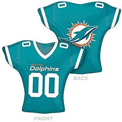 finest selection 4bb02 7c95a Anagram 27815 NFL Miami Dolphins Football Jersey Foil Balloon, 24