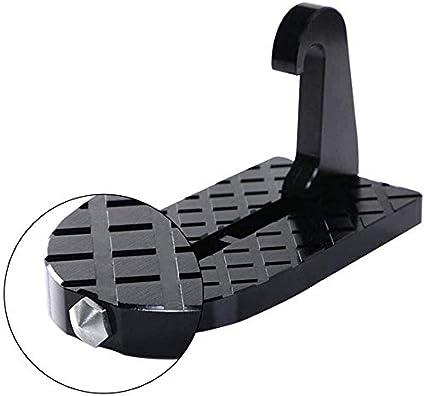 PXD913 Escalera Plegable para Puerta de Coche, Pedal de Gancho en Forma de U, Escalera Plegable para Puerta de vehículo Escalera Plegable para escalones de pie para vehículo Jeep SUV Todoterreno: Amazon.es: