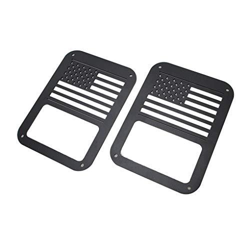 Xuanhemen 2PCS/Set Tail Lamp Tail Light Cover Trim Guards Protector for Jeep Wrangler Car Auto Interior ()