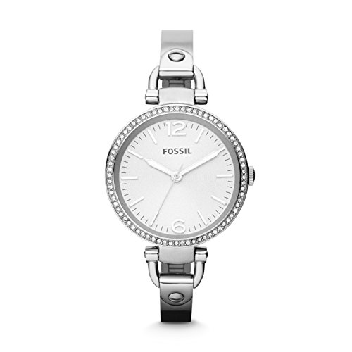 Fossil Women's ES3225 Georgia Glitz Silver-Tone Stainless Steel Watch with Stainless Steel Bracelet