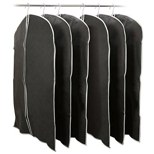 garment-bag-ezoware-black-foldable-breathable-garment-suit-dress-jacket-cover-set-of-6