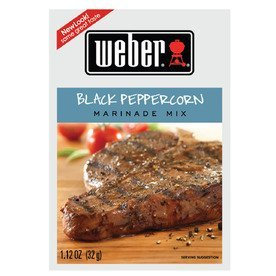 (50 Weber Black Peppercorn Marindade Mix (lot of 50 packets) each 1.12 oz)