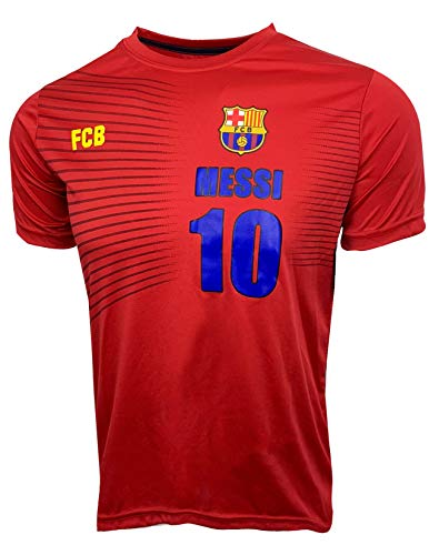 70432080c78 Barcelona Soccer Shirt Lionel Messi #10 for Kids,Futbol Jersey Kids T-Shirt  (Youth Large (10-12 Years))
