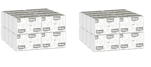 Kleenex 01890 Multi-Fold Paper Towels, 9 1/5 x 9 2/5, White, Pack of 150 (Case of 16 Packs) (Paper Towel - 2 Cases)