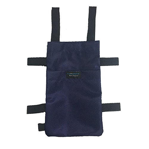 Crutch Bag Pouch Medical Crutches Accessory Carry On Pocket Storage Caddy Washable & Ergonomic Lightweight (Blue) by Mybow