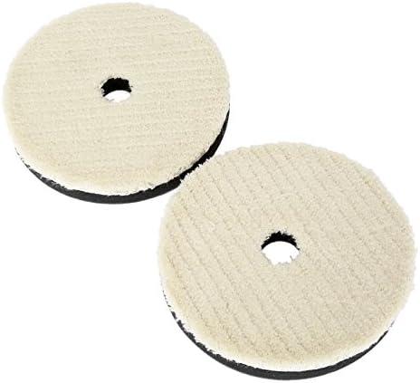 2枚入り ポリッシャー用 ウールパッド バフ研磨 研磨パッド 50mm