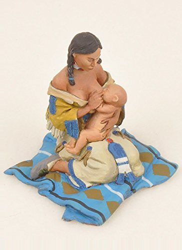 Black Hawk Toy Soldiers Farwest Indians Mother Feeding Baby Hand Painted and Assembled Metal Figure 1/32 Scale FW-205