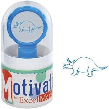 Black Ink NEW ExcelMark Motivations Pre Inked Teacher StampDino-Mite