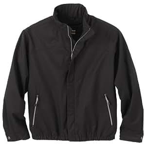 Ash City Mens Micro Twill Bomber Jacket (Small, Black)
