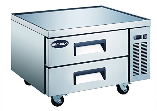 Refrigerated Base Chef Stand (Saba Air Refrigerated Equipment Stand Chef's Base 2 Drawers 36