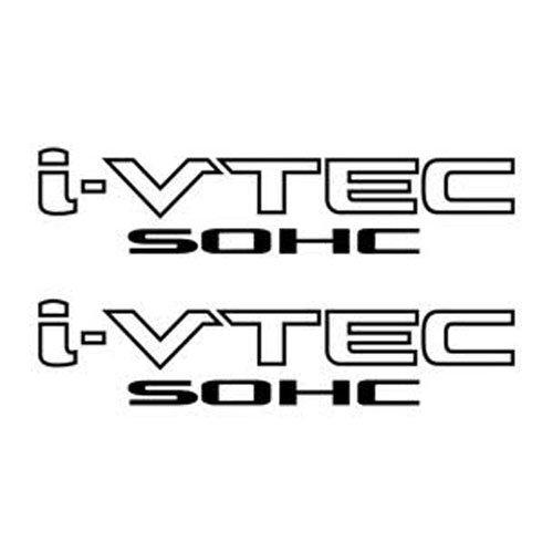 2 Pieces Black I-VTEC SOHC STICKER DECAL EMBLEM CIVIC S2000 ACCORD JDM IMPORT ILLEST ()