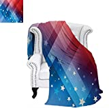 How Many Feet Is a California King Bed Throw Blanket Independence Day Themed Abstract Diamond Rhombus with Star Liberty Freedom Velvet Plush Throw Blanket 62