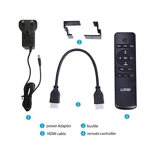 cable HDMI HDR FHD 1080P con FreeSync para PS4 Slim port/átil con la tecnolog/ía Eye-Care Monitor de juegos G-STORY de 11,6 pulgadas no se incluye protecci/ón para los ojos