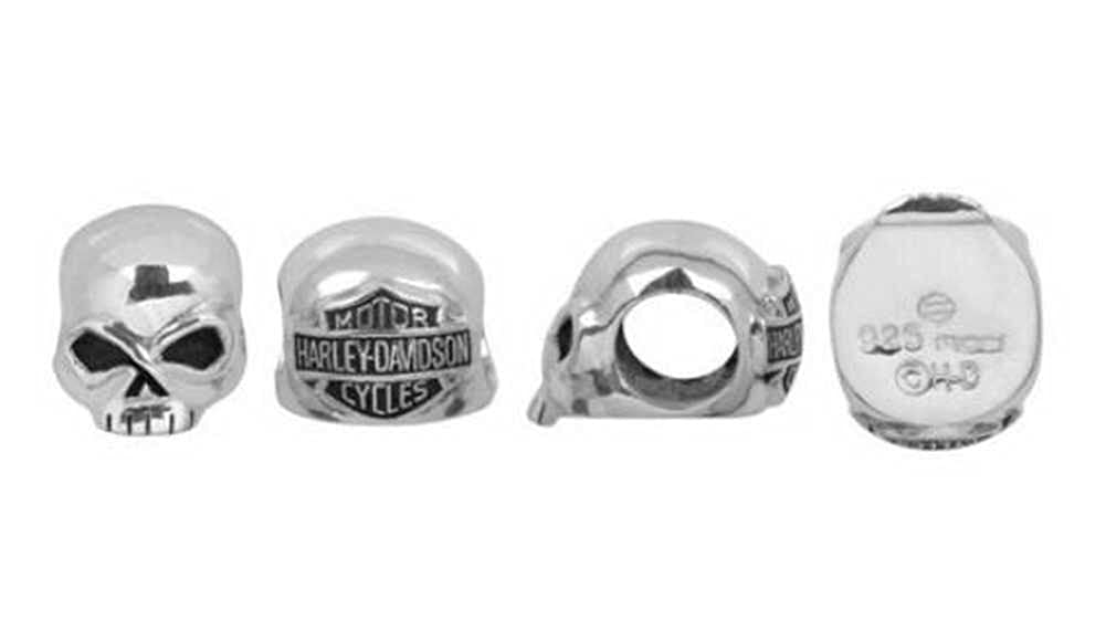 fd25f37aa Amazon.com: Harley-Davidson Willie G Skull Sterling Silver Ride Bead  HDD0041: Harley-Davidson: Jewelry