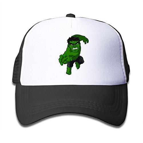 Gsyful Youth Children Girl Boy Kids Custom Street Hulk 1 Unisex Half Mesh Adjustable Baseball Cap Hat Snapback (Snapback Hulk)