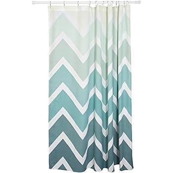 Amazon.com: Danica Studio Cotton Shower Curtain, Chevron Print ...