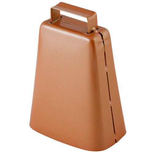 Outfitters Supply Kentucky-Style Horse Bell, Ideal For Use When Letting Horses and Mules Out To Graze In The Backcountry, Copper Plated Steel, Classic Cow Bell Sound That Can Be Heard From Far Away (Trail Saddle Mule)