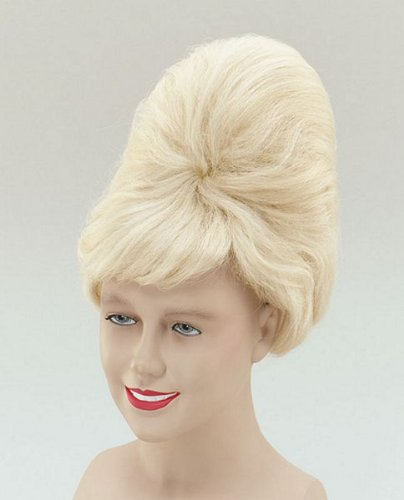 Bristol Novelty BW126 High Beehive PP Fibre Wig, Blonde, One Size -