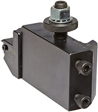 """Dorian Tool QITPN-881 Chromium Molybdenum Alloy Steel Quick Change OD and ID Threading Holder with External On Edge Insert Cartridge for QITP25N Quadra Indexing Quick Change Tool Post, 1-1/4"""" Width, 1-3/4"""" Height"""