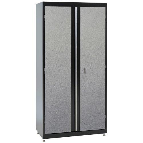 (Sandusky Lee GF3F361872-M9 Welded Steel Cabinet, 2 Adjustable Shelves, 1 Fixed Middle Shelf, 72