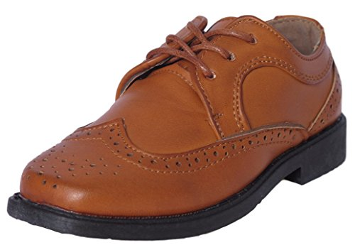 Josmo Boys Classic Comfort Dress Wing-Tip Oxford Shoe (Toddler, Little Kid, Big Kid), Brown, Size ()