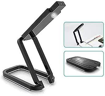 2Pack - Portable Clip-on Compact Flexible Reading Lamp Desk Light Foldable LED Book Lights Flashlight and Emergency Light - 3000k Natural White