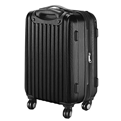 Goplus 20'' ABS Carry On Luggage Expandable Hardside Travel Bag Trolley Rolling Suitcase GLOBALWAY (Black) by Goplus (Image #7)